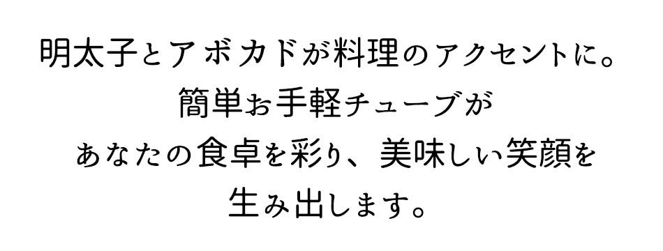 明太子 チューブ 鱈卵明太アボカド プレーン